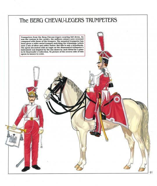 Trombe dei lancieri del rgt. cavalleggeri di Berg, successivamente denominato 3 rgt. lancieri di Berg della guardia imperiale francese