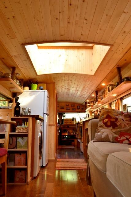 Check Out This Awesome Tiny House School Bus Conversion! - Tiny Treasure Homes