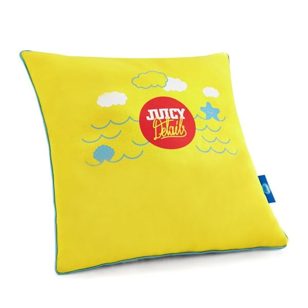 JUICY YELLOW pillow - Juicy Details  Soft, two-sided pillow made of certified knitted cotton fabric and high quality cotton with enhanced softness and delicacy.