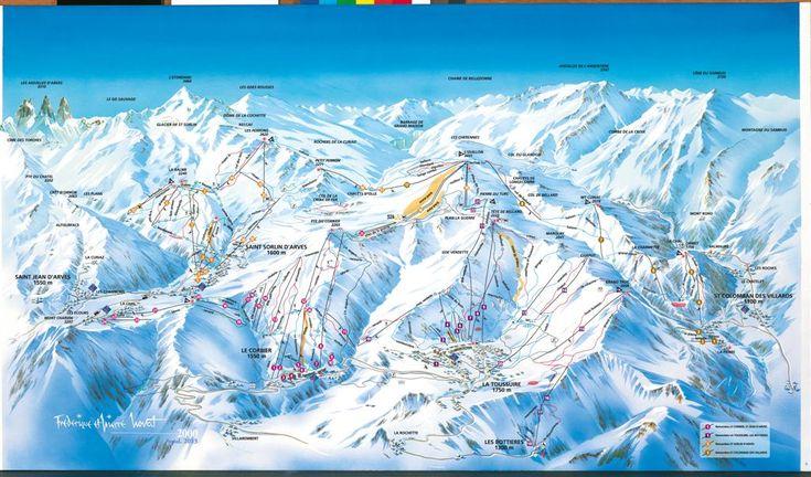 Plan des pistes - La Toussuire - Les Sybelles http://www.la-toussuire.com