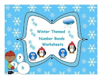 Winter Themed Number Bonds Worksheets by Annie Ahmer is licensed under a Creative Commons Attribution 4.0 International License.  Winter Themed Number Bonds Worksheets.  1. These are worksheets for practice number bonds. 2. From Number 1 to  10 Bonds worksheets. 3.