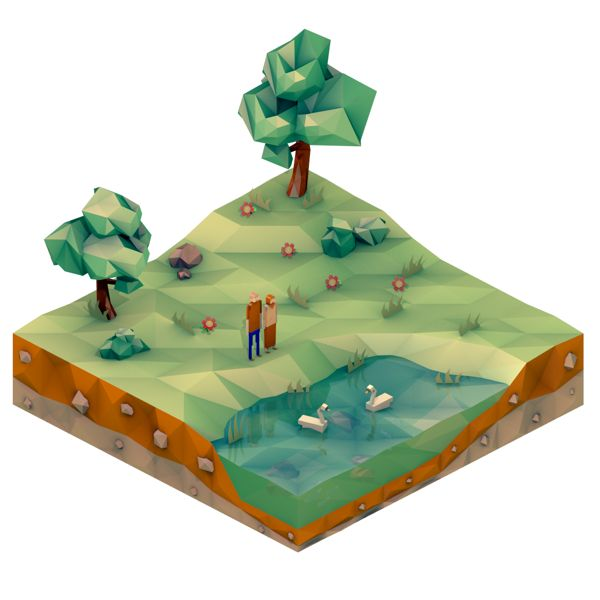 Low Poly Illustrations on Behance