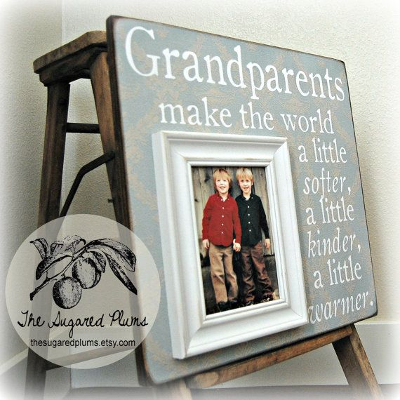 grandparents picture frame mimi papa grandma by thesugaredplums 7500