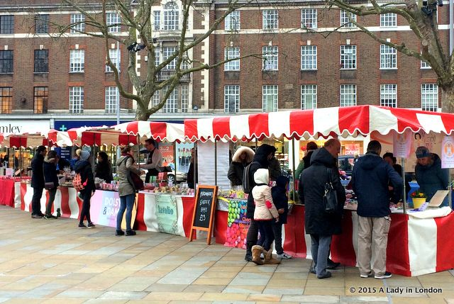 The 14 best markets in London! The Duke of York Square Food Market in Chelsea is a fun place to eat on Saturdays before a shopping trip down King's Road or a visit to the Saatchi Gallery.