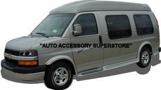 Wow! Check out our full flare style of running boards for the Chevy Express Van. It truly adds stunning looks!