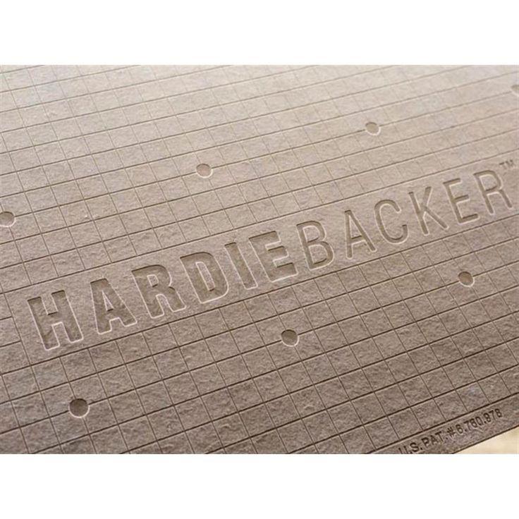 James Hardie Hardiebacker 3 Ft X 5 Ft X 1 4 In Cement Backerboard Backerboard Cement Ft Hardie Hardiebacker J Backerboard Diy Fireplace James Hardie