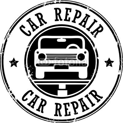 Vector: Car repair grunge stamp, vector illustration