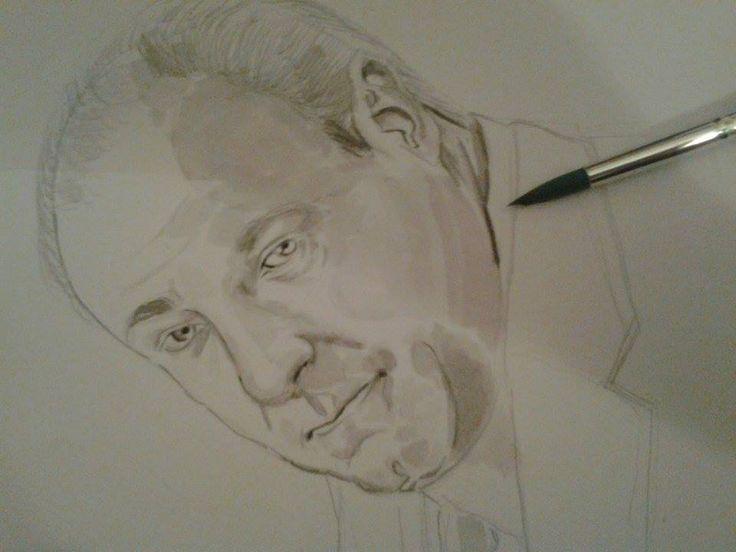 ettobasciano.wordpress.com #Sketch #Art #Illustration #pencil #WIP #TonySoprano #TheSopranos #ISoprano #Soprano #JamesGandolfini #Portrait #Ritratto #HBO #watercolor