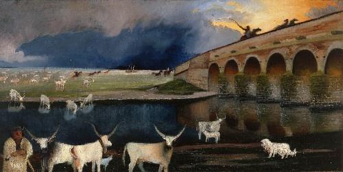 Csontváry-Kosztka Tivadar:Vihar a Hortobágyon 1903 (Csontváry Kosztka: Storm on the Hortobágy 1903)