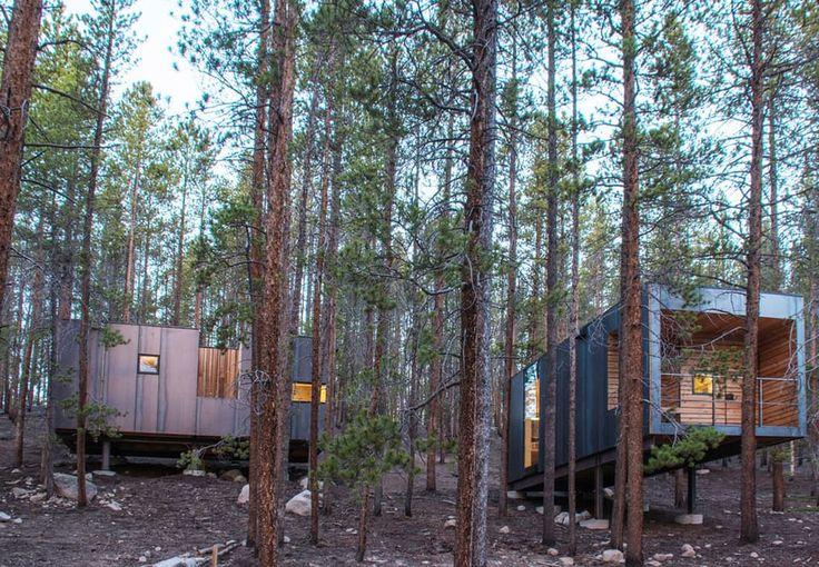 Arkitektstuderende bygger små hytter tilpasset landskabet i Colorado | Bobedre.dk