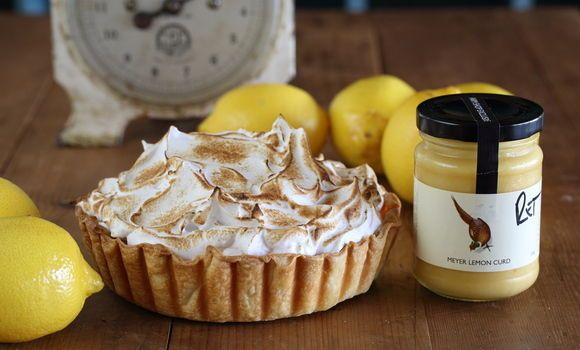 Maggie Beer - Lemon curd meringue pie