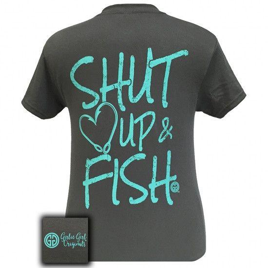 Girlie Girl Originals Preppy Shut Up & Fish T-Shirt