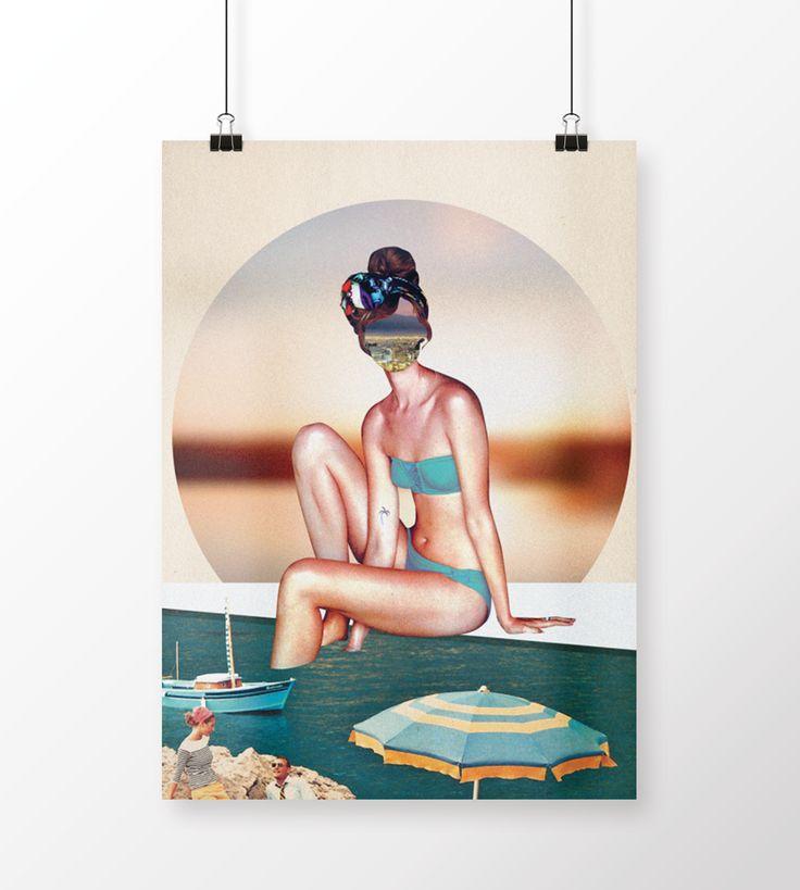 Côte d'Azur| Poster Illustration on Behance