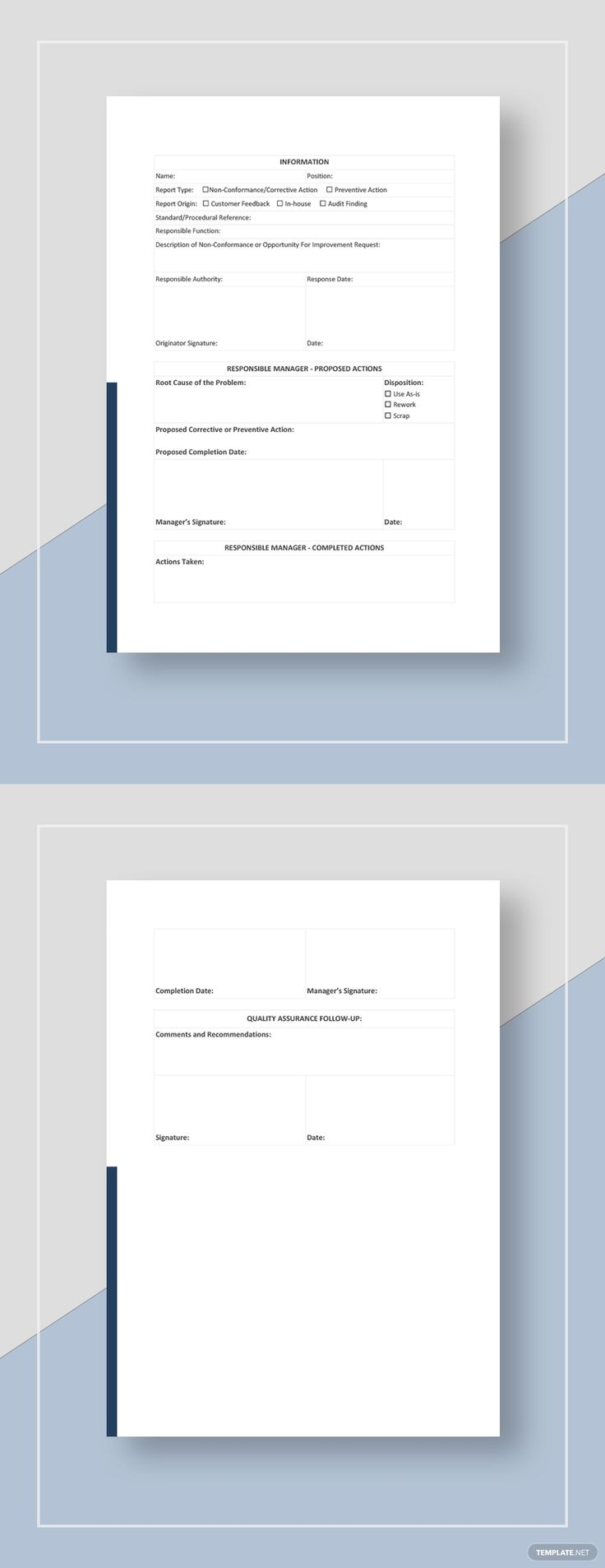 NonConformance Report Template AD, , paid, Conformance