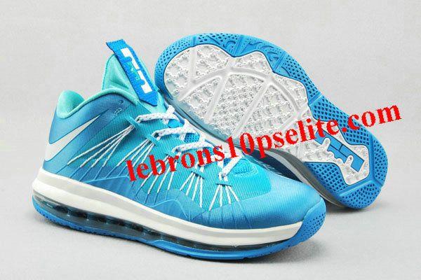 Nike Air Max Lebron X Low Sky/White