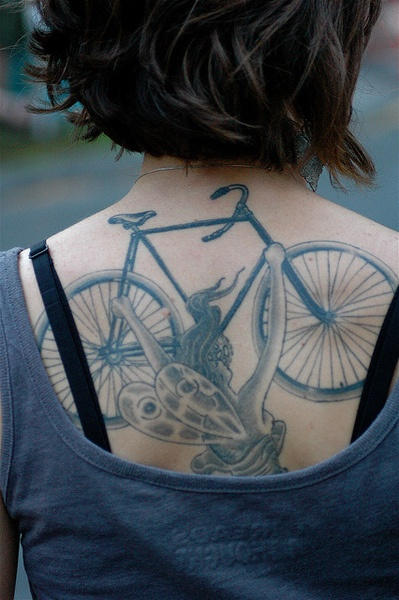 velo tattoo - bici tattoo