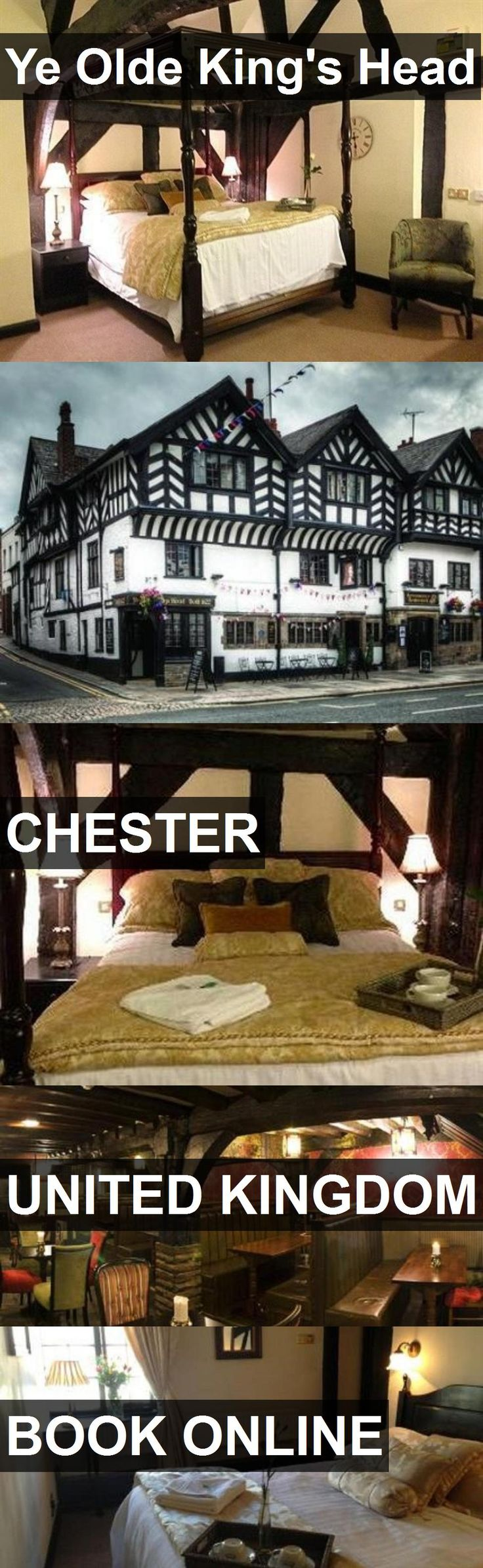 Hotel Ye Olde King's Head in Chester, United Kingdom. For more information, photos, reviews and best prices please follow the link. #UnitedKingdom #Chester #hotel #travel #vacation