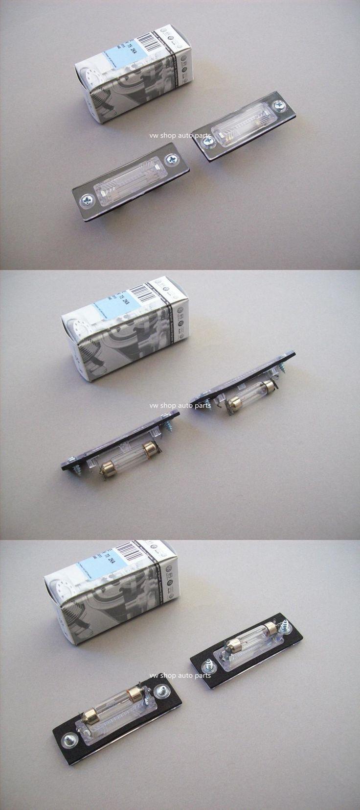 [Visit to Buy] 2PCS  Transporter T5 03-09 Caddy 2K Jetta 1K Passat 3C2 Number Plate Lights Lamps #Advertisement