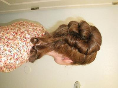 This is an example of colonial hair that was more used in the Western part of Europe and in America