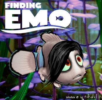 EMO: Laughing, Emo Disney, Random, Finding Emo, Movie, Funny Stuff, Funnies, Emo Nemo, Finding Nemo