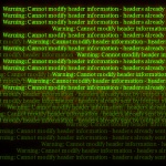 How To FIX PHP Error Cannot modify header information