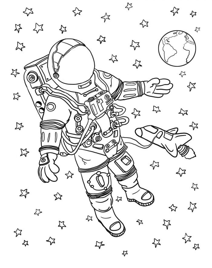 Okul Oncesi Ve Ilkokullarda Uzay Egitimi Icin Uzay Boyama Sayfasi