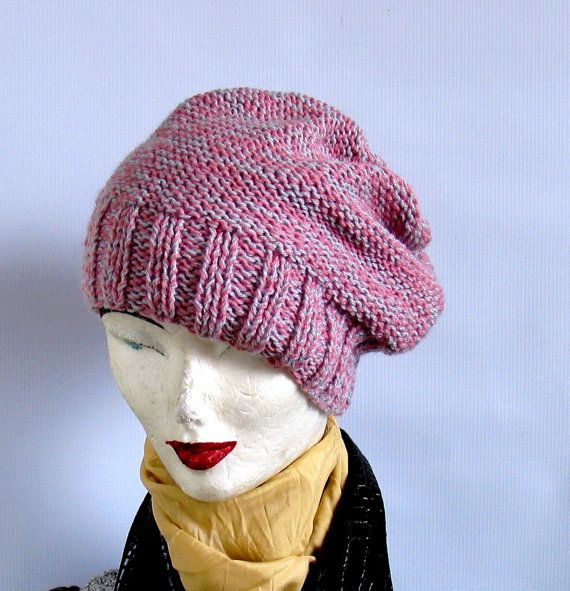 Sacking Winter Hat    Slouchy Beanie Hat by recyclingroom on Etsy, $28.00