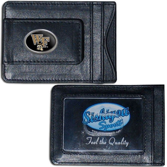 Siskiyou Collegiate Wake Forest Demon Deacons Leather Cash & Card Holder