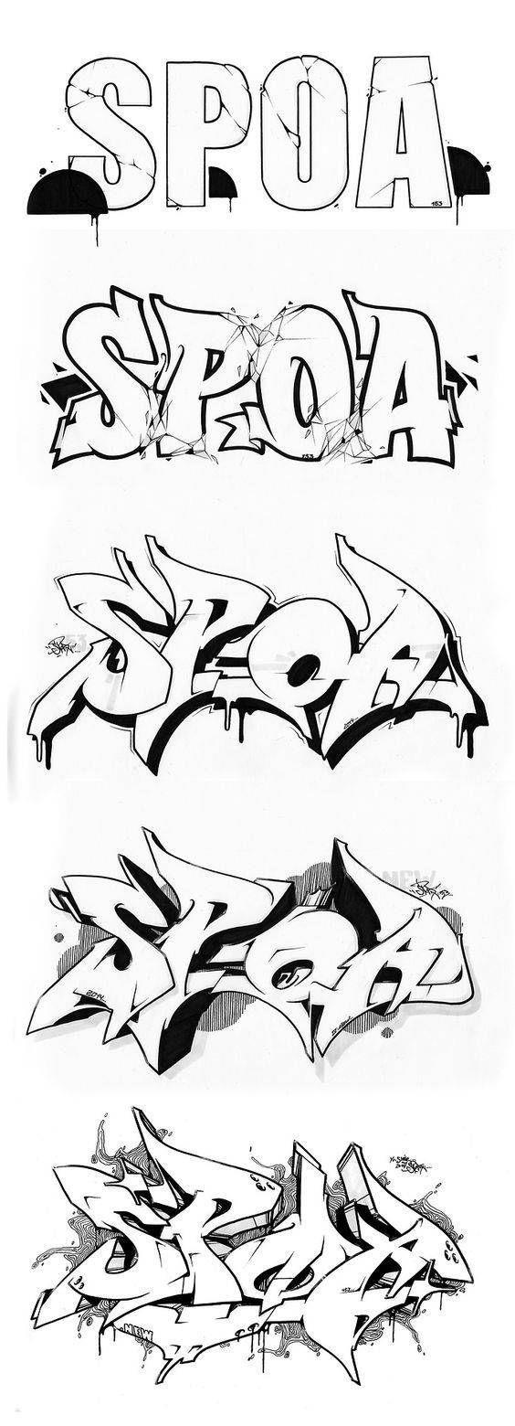 dibujar nombres en graffiti