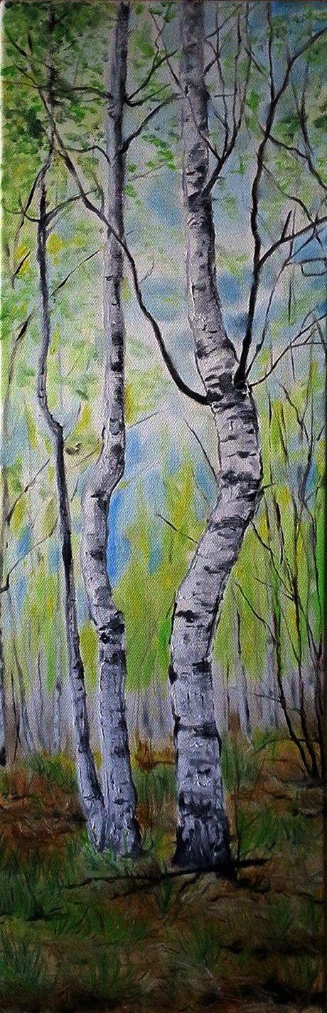 Apríl Oil on canvas.Size 20x60cm.