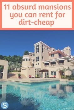 Are you and your friends looking for an awesome weekend getaway?  We made it easy for you by finding 11 absurd mansions that you can rent for dirt-cheap! http://www.simplemost.com/absurd-mansions-can-rent-dirt-cheap-friends-getaway-weekend/?utm_campaign=social-account&utm_source=pinterest.com&utm_medium=organic&utm_content=pin-description