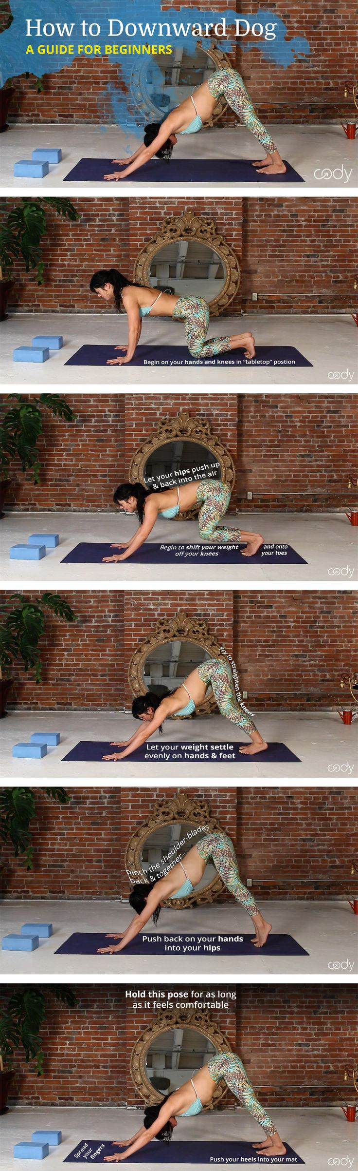 How to Down Dog – or Adho Mukha Svanasana – is the root of Sun Salutations as it is a strengthening, lengthening and restorative yoga pose that offers many benefits. No matter the sport – yoga, weight lifting, running, or cycling – downward dog is a great