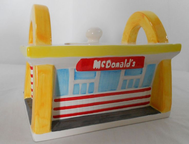 McDonald's Restaurant Cookie Jar Treasure Craft
