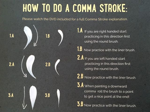 You Can Folk It!   Our how to paint a comma stroke. Carol goes through this technique in more detail in our Series 1 DVD. This is a great stroke to paint roses, daisies and other decoration. Our kits are available from www.folkit.co