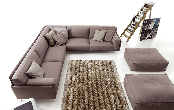 Leather sofas model Kris - Products - Design