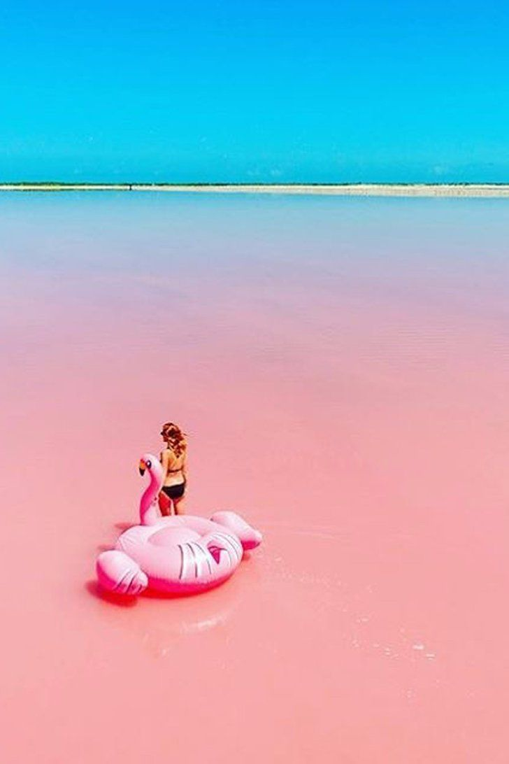 This Pink Lake in Australia Looks Like a Pool of Bubblegum, and We Want to Jump In