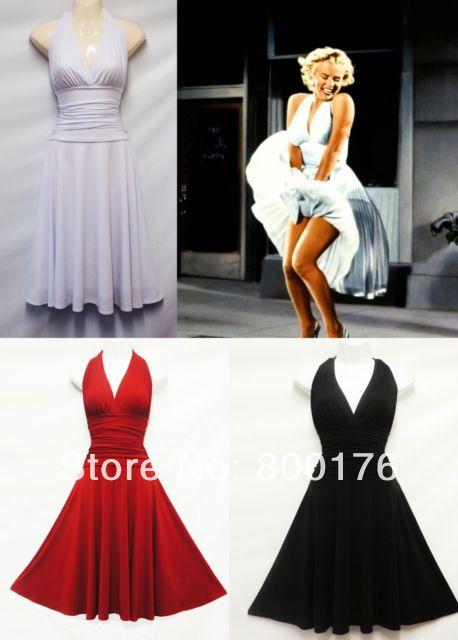 新しいファッションの女性送料無料50年代60年代スイングロカビリーレトロビンテージドレスパーティードレス(China (Mainland))