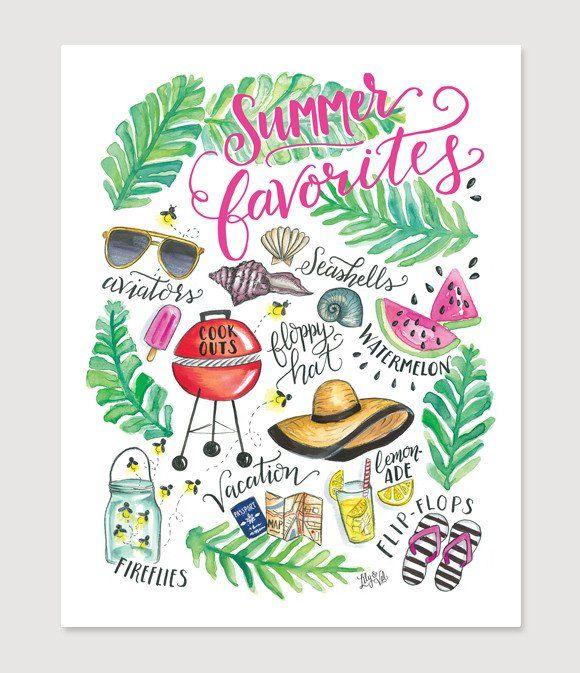 Summer Favorites - Print