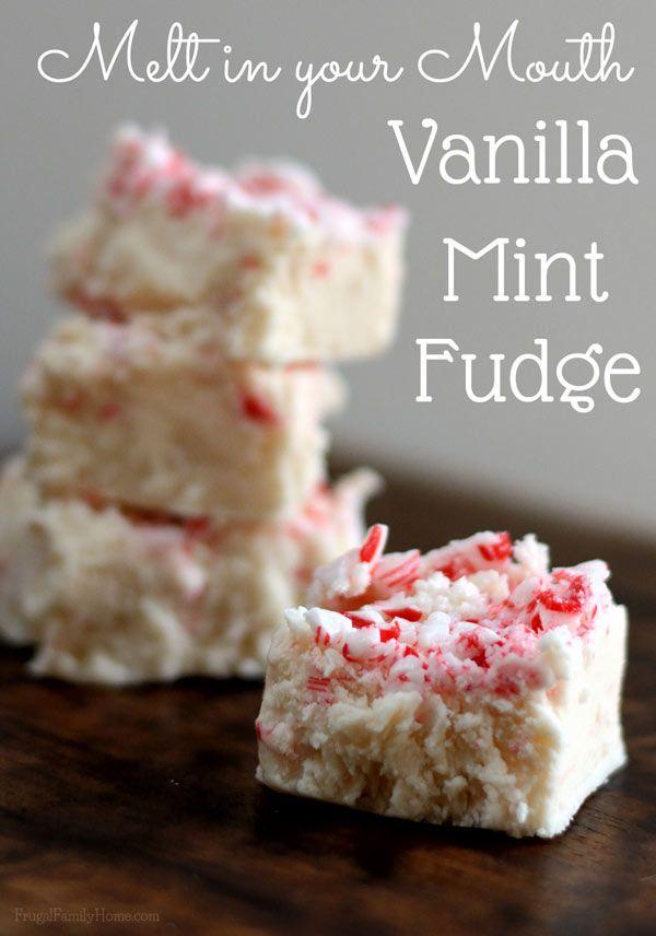 Vanilla Mint Fudge | Recipe | Vanilla Fudge, Fudge and ...