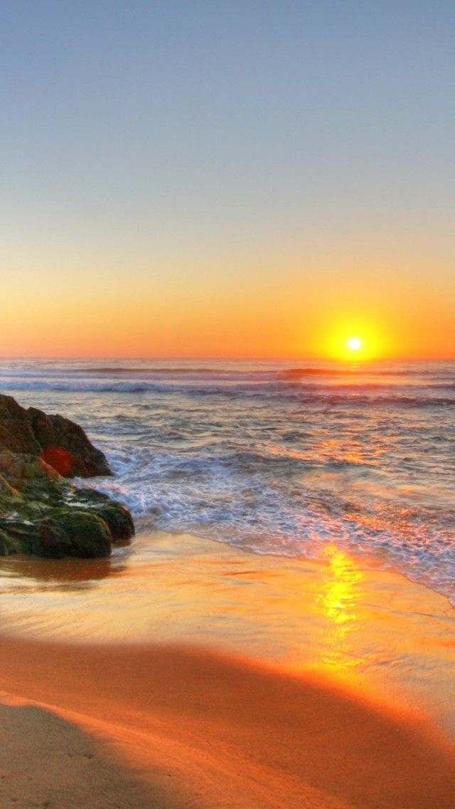 Beach Sunrise In Tathra, Australia iPhone 5 wallpapers, backgrounds, 640 x 1136