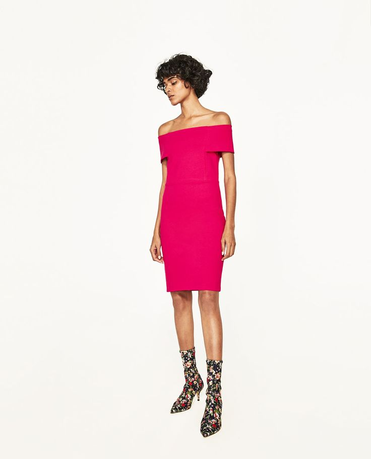 ZARA - WOMAN - DRESS WITH BARDOT NECKLINE
