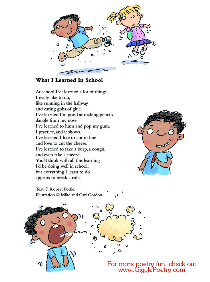 """What I Learned In School"" a poem by Robert Pottle."