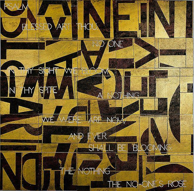 "imants tillers - ""psalm II"", 2012 acrylic, gouache on 25 canvas boards."