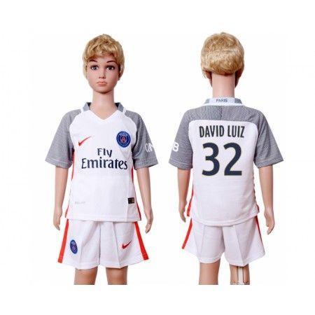 PSG Trøje Børn 16-17 #David Luiz 32 3 trøje Kort ærmer,199,62KR,shirtshopservice@gmail.com