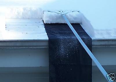 Snow roof rake shovel with slide snow removal avoid ice ...
