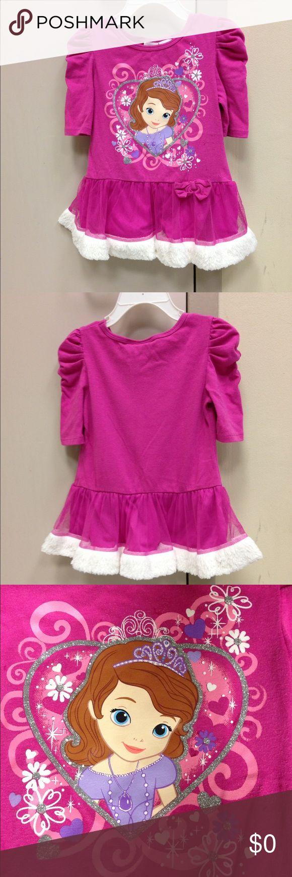🌴NEW LISTING🌴 Disney Sophia Dress Pink.  Few tiny glue spots I cannot remove (see pic 5). Size 4T. (2/26) Disney Dresses Casual