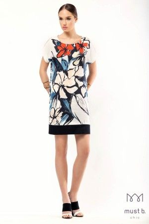 Φόρεμα σάκος λουλούδι φάσαfashion collection woman dress floral spring summer 2015