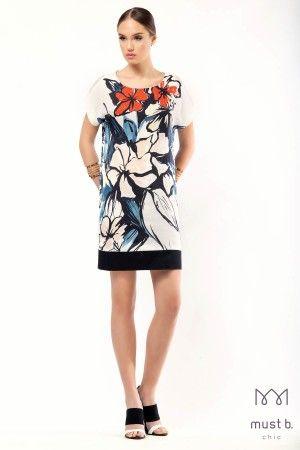 Φόρεμα σάκος λουλούδι φάσαfashion collection woman dress floral spring summer 2015