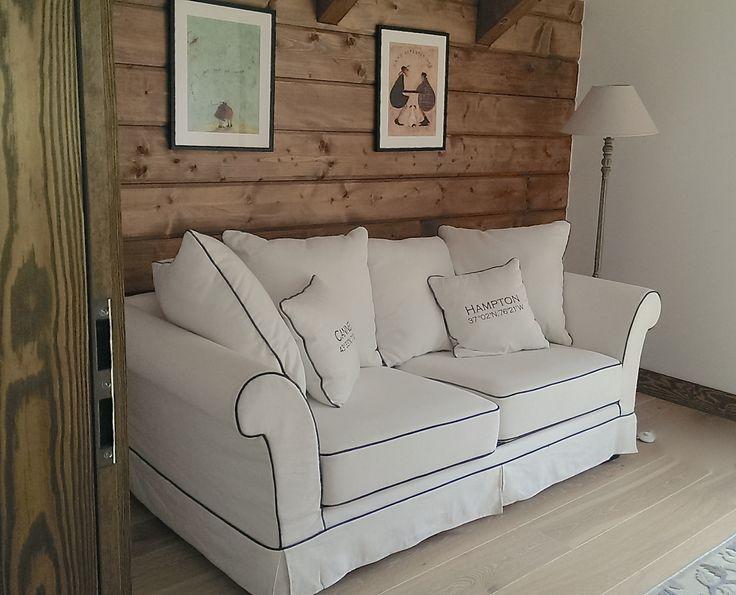 Pokój gościnny - zimowe barwy ale nadal ciepło! Od tej sofy wszystko się zaczęło:)