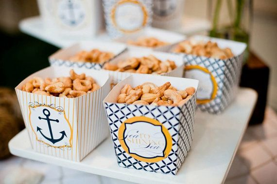Nautical Baby Shower PRINTABLE Party DIY Favor Box by lovetheday, $8.00